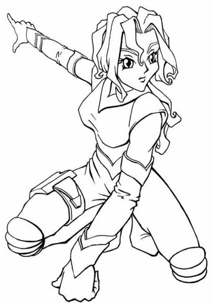 Dibujo Para Colorear Chica Manga Del Espacio
