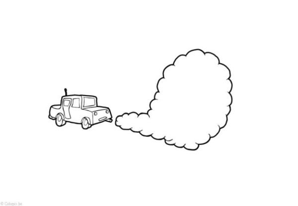 Dibujo Para Colorear Contaminación Del Aire