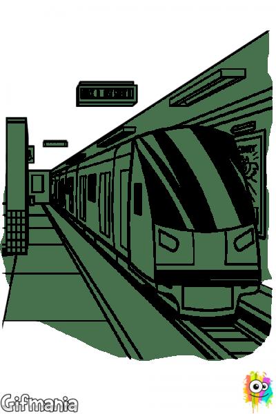 Imagenes Del Metro Para Colorear
