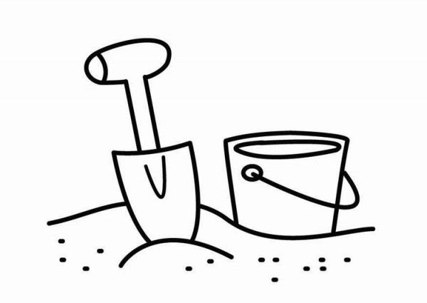 Dibujo Para Colorear Esquina De Caja De Arena
