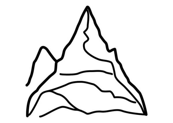 Dibujo Para Colorear Montaña