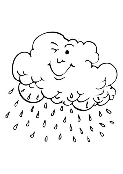 Dibujo Para Colorear Nube De Lluvia