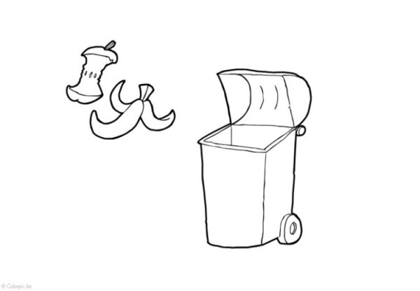 Dibujo Para Colorear Residuos Orgánicos