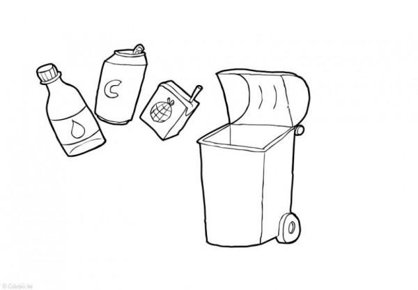 Dibujo Para Colorear Residuos Sólidos