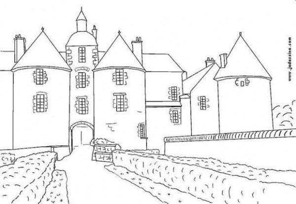 Dibujos Para Colorear Un Castillo Francés