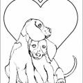 Dibujos De Perros Enamorados Para Colorear