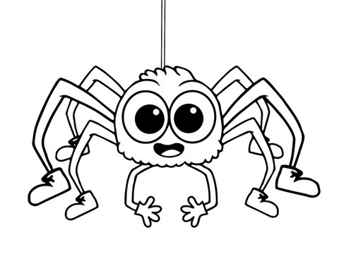 Dibujos De Arañas Para Colorear