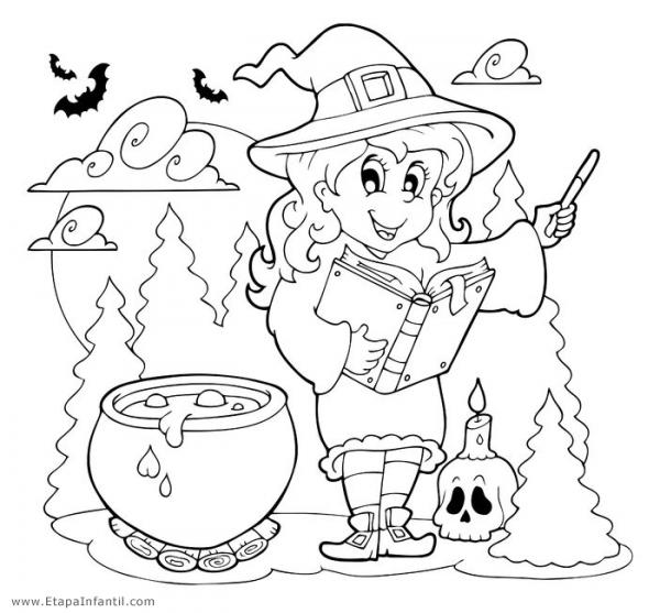 Dibujos Para Imprimir Y Colorear En Halloween