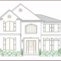 Casas Modernas Para Colorear