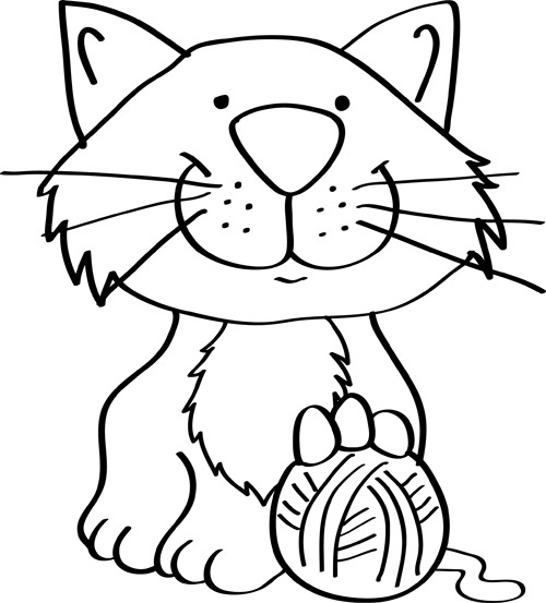 Dibujos De Gatos Faciles Para Niños