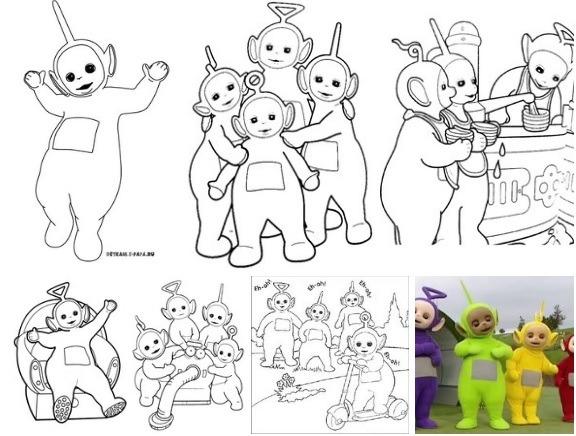 Dibujos De Los Teletubbies Para Colorear E Imprimir