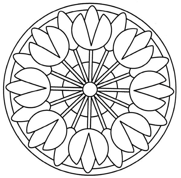 √ 196 Dibujos De Mandalas Para Colorear Fciles Y Difciles