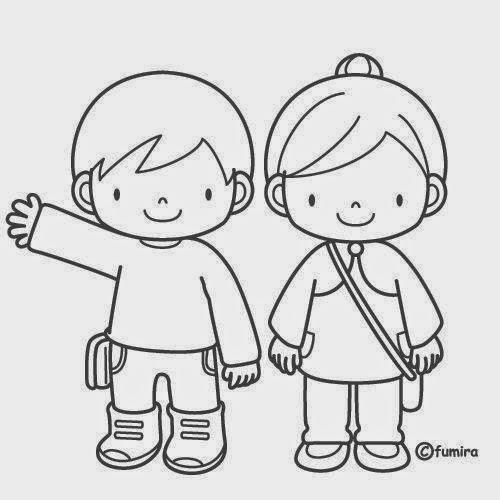 √ Dibujos Para Colorear  Maestra De Infantil Y Primaria
