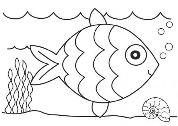 Dibujos De Peces Para Colorear E Imprimir (2)