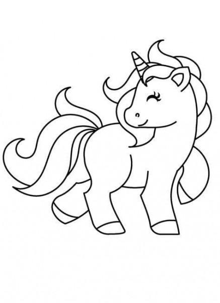 ᐈ Unicornios Para Colorear 🦄