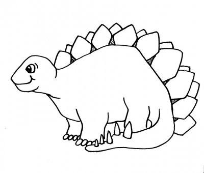 Dibujo De Dino Para Colorear Y Pintar