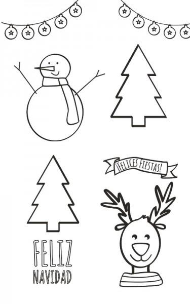 √ Postales De Navidad Originales Para Colorear Regalos