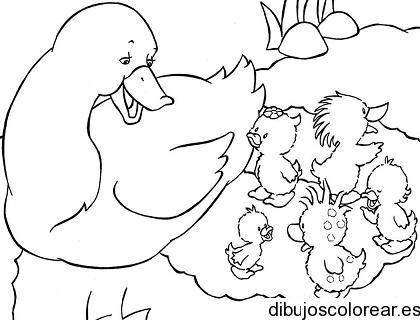 Dibujo De Una Familia De Patos