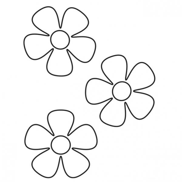 Dibujos De Flores Simples Para Dibujar
