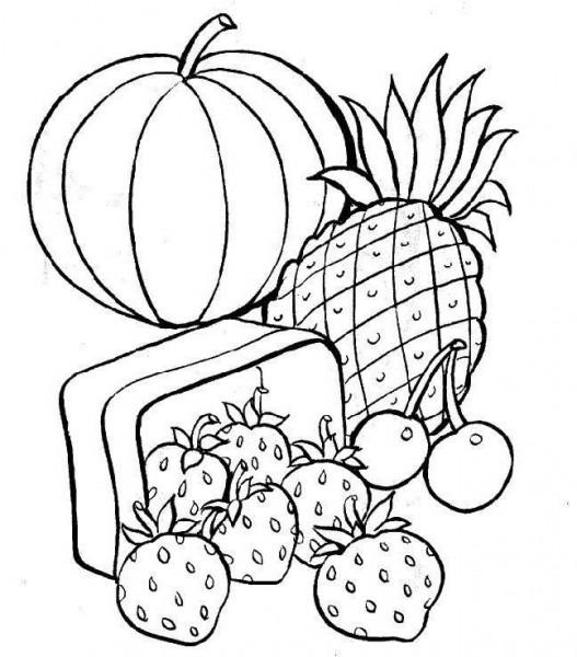 Dibujos Para Colorear De Frutas Y Verduras Â« Ideas & Consejos