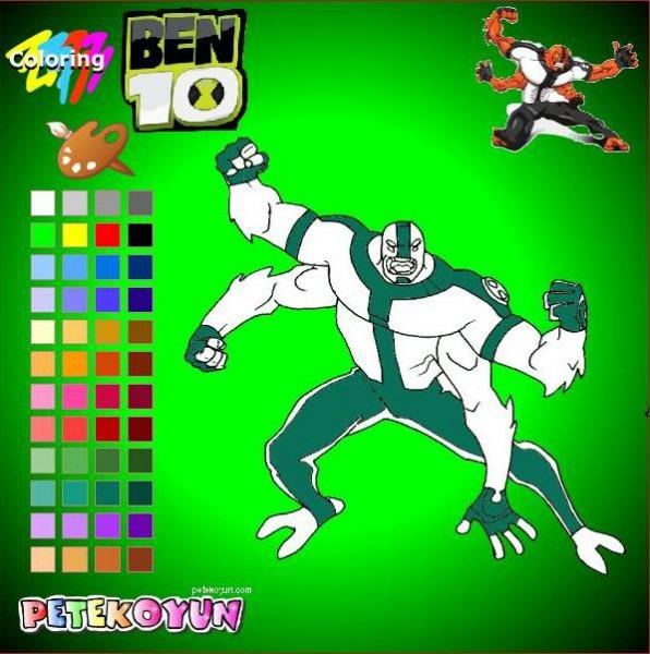 Dibujos Para Pintar Online De Ben 10 (iii)