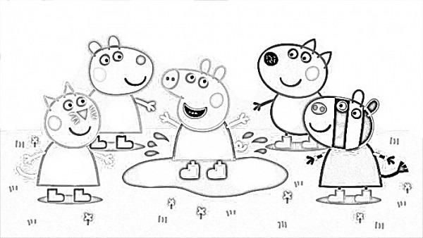 √ Dibujos Para Imprimir De Peppa Pig Y Sus Amigos