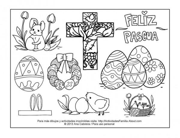 Dibujos Para Colorear De Pascua Gratis