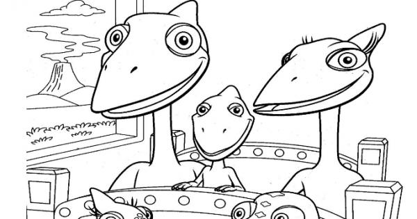 √ Dinosaurios Para Colorear  Dino Tren Para Colorear