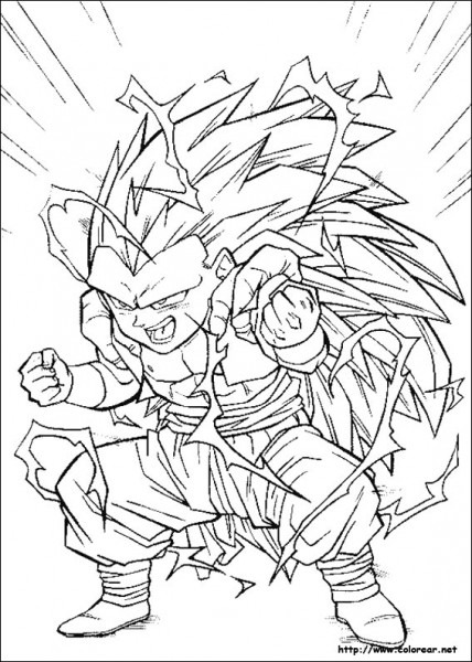 Dbz Vegeta Ssj4 Coloring Pages  Goku Dbz Coloring Pages 2 Goku Dbz