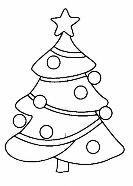 Arbol De Navidad  5 (objetos) – Páginas Para Colorear