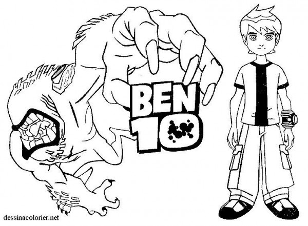Ben 10  117 (cartoons) – Printable Coloring Pages