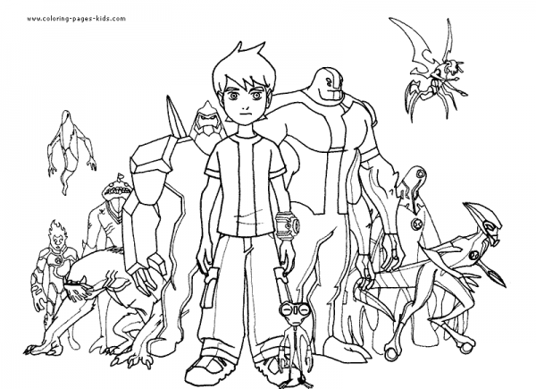 Ben 10  27 (cartoons) – Printable Coloring Pages