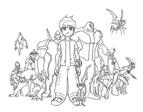 Ben 10  33 (cartoons) – Printable Coloring Pages