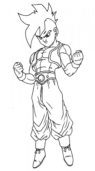 Dragon Ball Z  184 (cartoons) – Printable Coloring Pages