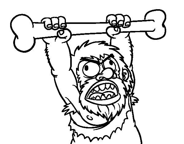 Hombre Prehistórico  12 (personajes) – Páginas Para Colorear