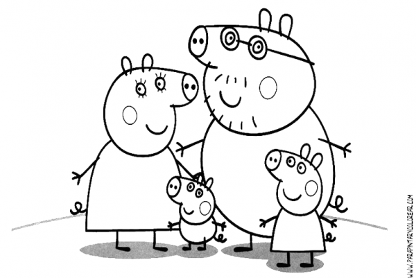 Peppa Pig  85 (cartoons) – Printable Coloring Pages