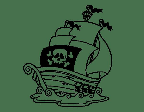 Pirate Ship  30 (transporte) – Páginas Para Colorear