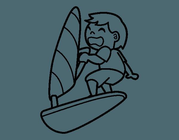 Sailboard   Windsurfing  2 (transporte) – Páginas Para Colorear