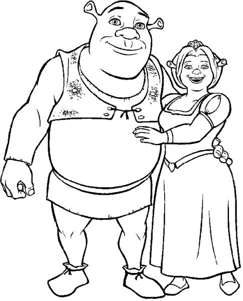 Shrek  134 (películas De Animación) – Páginas Para Colorear