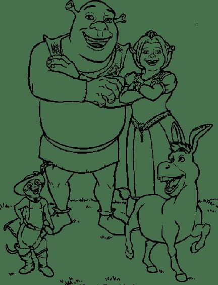 Shrek  157 (películas De Animación) – Páginas Para Colorear