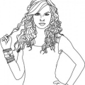 Taylor Swift Para Colorear