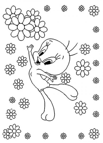 Tweety And Sylvester  110 (cartoons) – Printable Coloring Pages