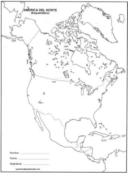 Resultado De Imagen Para Mapa Politico De America Del Norte Para