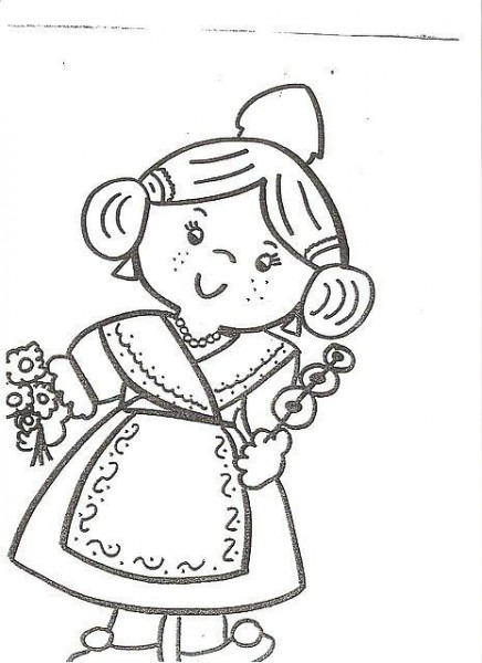Dibujos De Falleras Infantiles