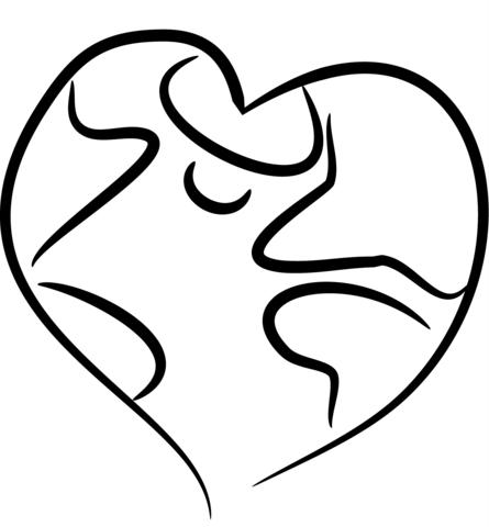 Dibujo De Tierra En Forma De Corazón Para Colorear