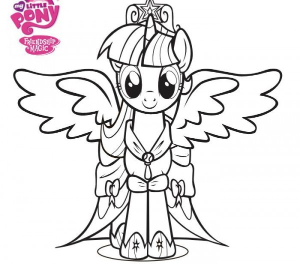 Free Coloring Pages Of My Little Pony Page 5