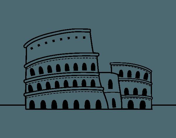 Dibujo De El Coliseo De Roma Para Colorear