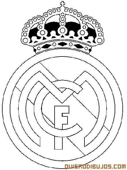 √ Escudo Del Real Madrid Para Colorear E Imprimir