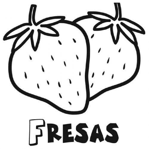 Dibujo Para Imprimir Y Pintar De Fresas