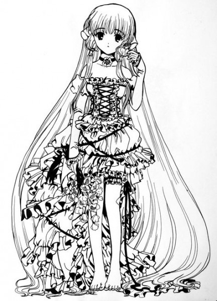 Anime Clamp Coloring Pages